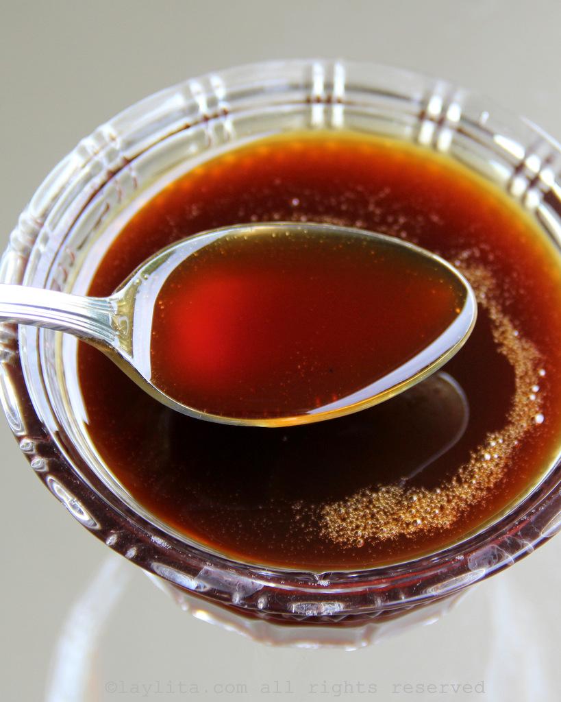 Miel de panela or piloncillo syrup