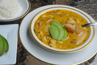 Ecuadorian caldo de pata or cow feet soup