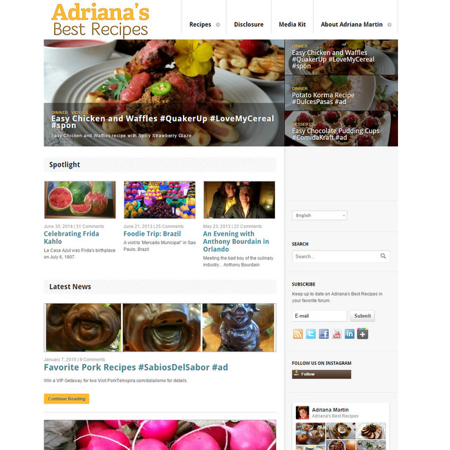Adriana's Best Recipes blog