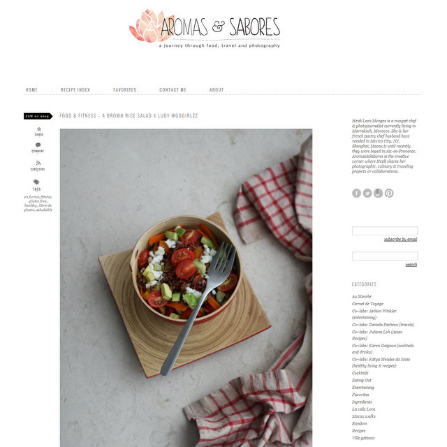 Aromas n Sabores food blog