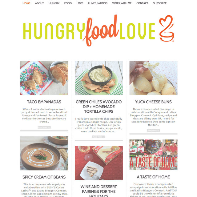 Hungry Food Love blog