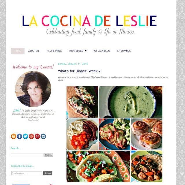 La Cocina de Leslie blog