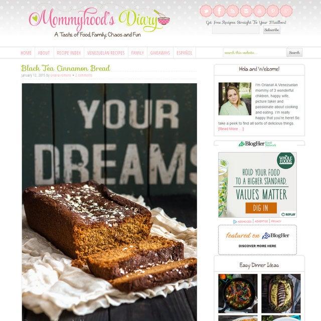 Mommyhood's Diary food blog