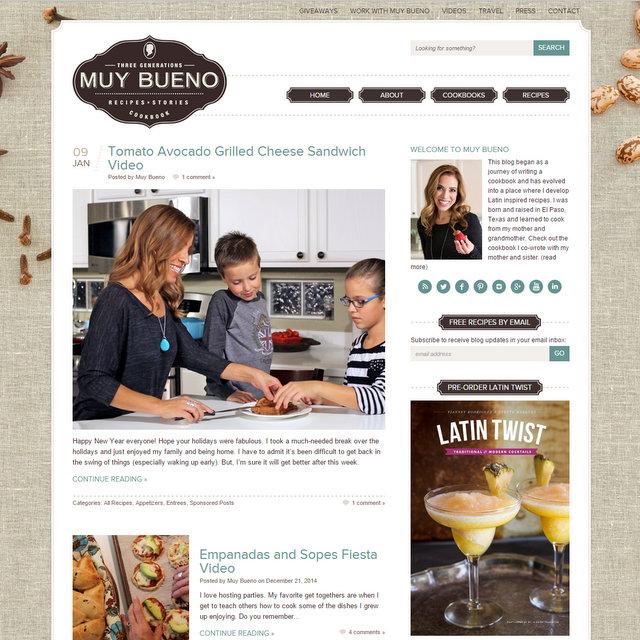 Muy Bueno Cookbook blog