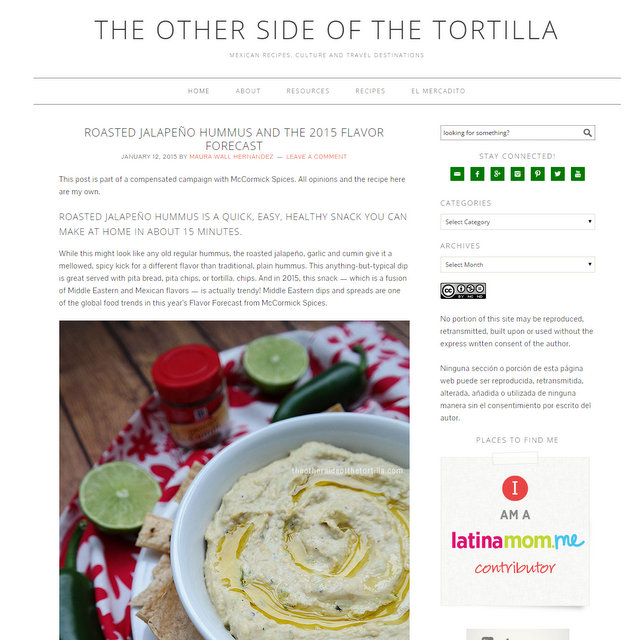 The Other Side of the Tortilla blog