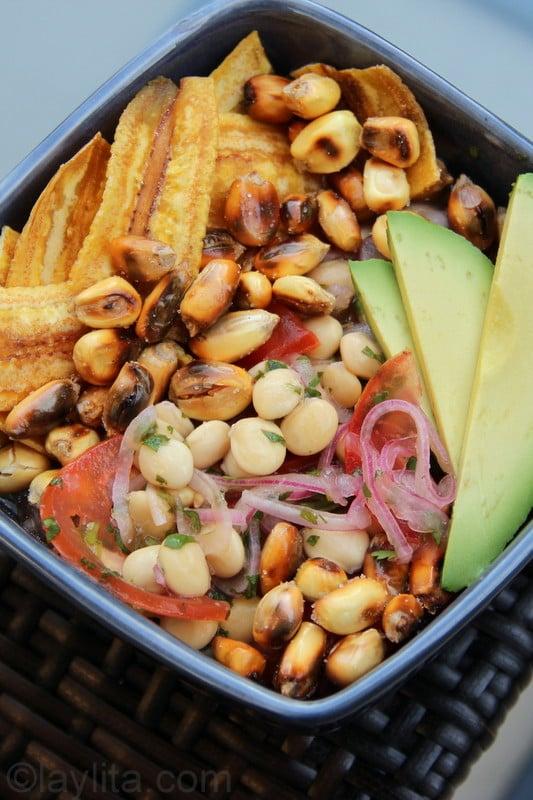 Vegetarian ceviche de chochos