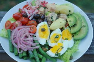 Homemade Nicoise salad
