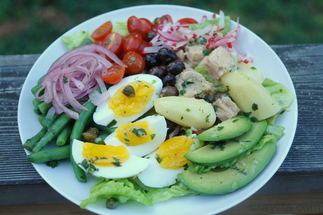 Nicoise salad with some Latin inspiration