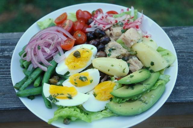 Nicoise salad with some Latin inspiration