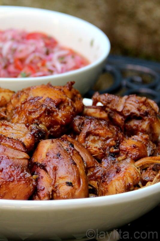 Fritada de gallina {Ecuadorian braised chicken in chicha}
