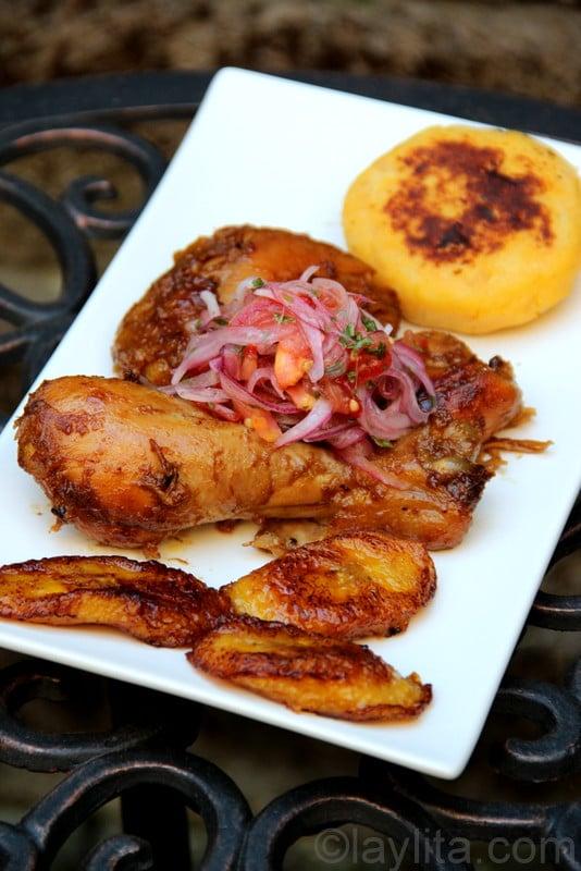 Fritada de gallina / Ecuadorian braised chicken in chicha