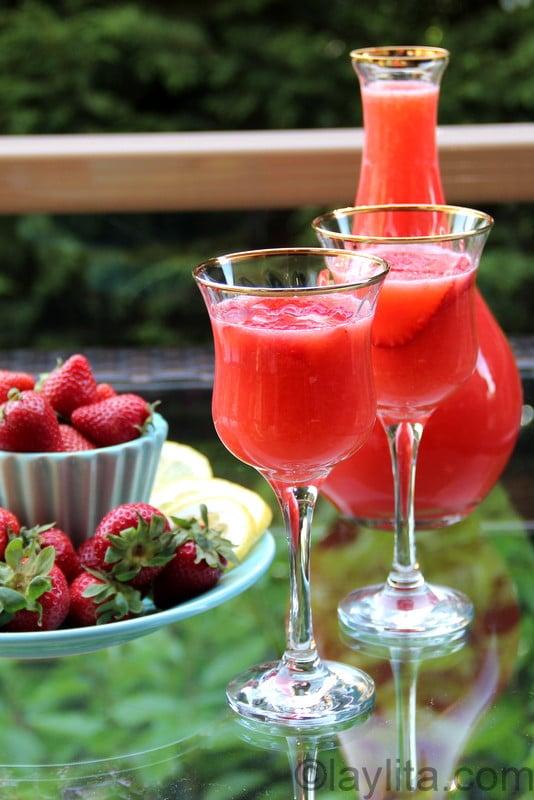 Cocktail de limonade aux fraises