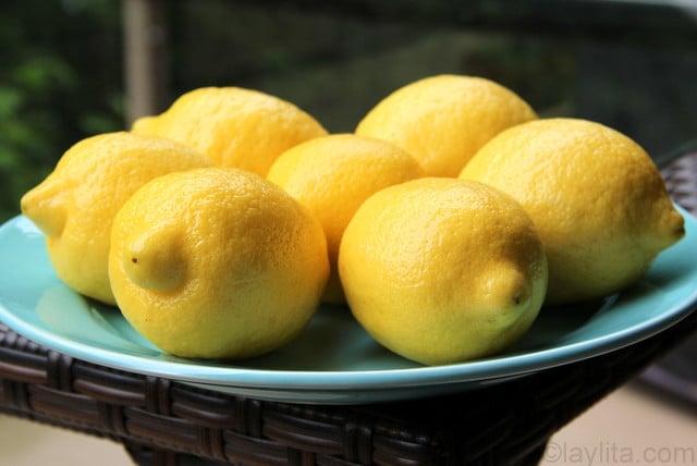 citrons pour limonade