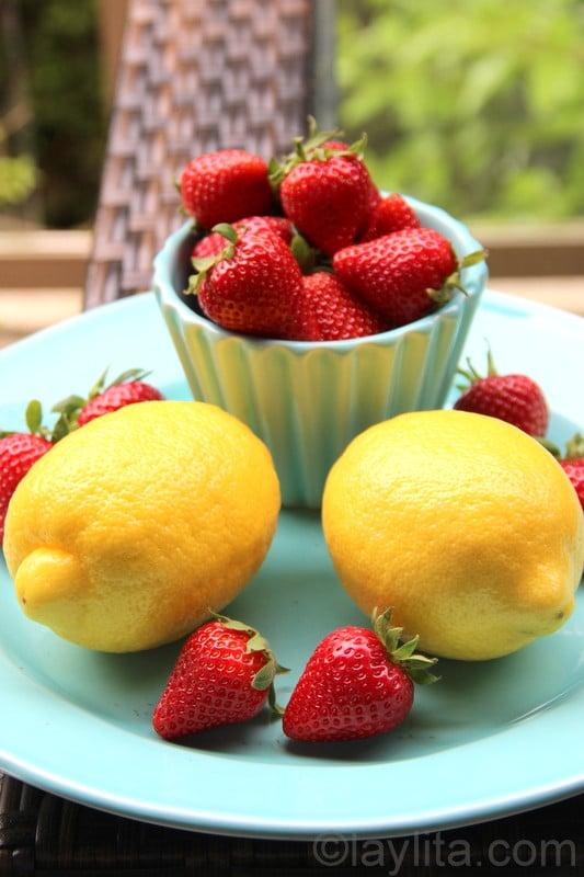 fraises et citrons pour limonade