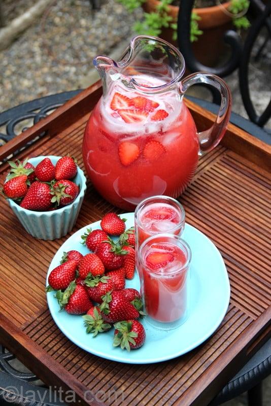 Recette de limonade aux fraises