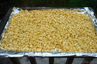 Preparação para mexido de milho
