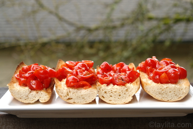 Cherry tomato bruschetta recipe