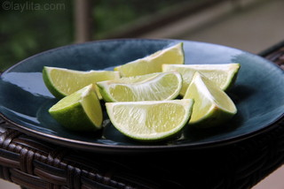 Limes for cherry limeade