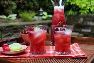 Preparação de Limonada de Cereja