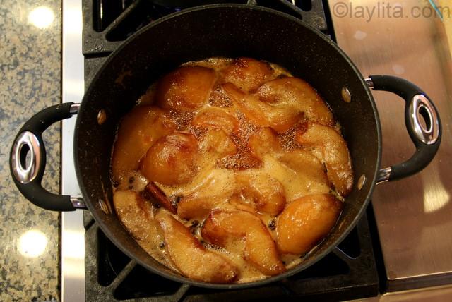 Recette des poires caramélisées - étape 5