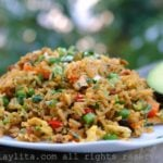 Chaulafan de pollo {Ecuadorian chicken fried rice}
