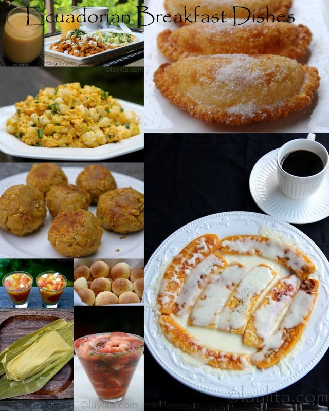 Ecuadorian Breakfast dishes