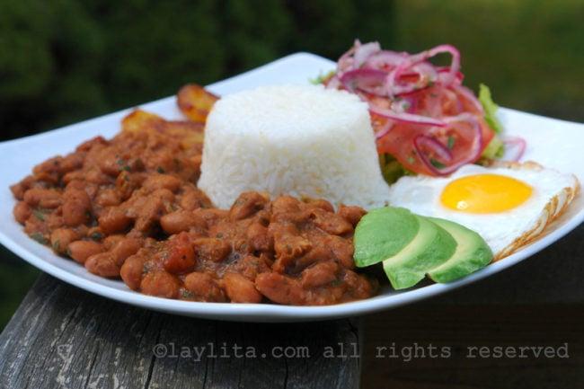 Ecuadorian bean menestra