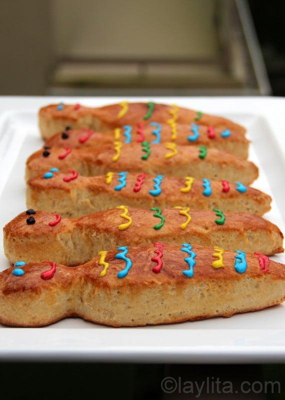 Receita de guaguas de pan