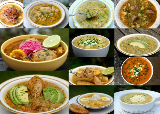 Recipes for traditional Ecuadorian soups