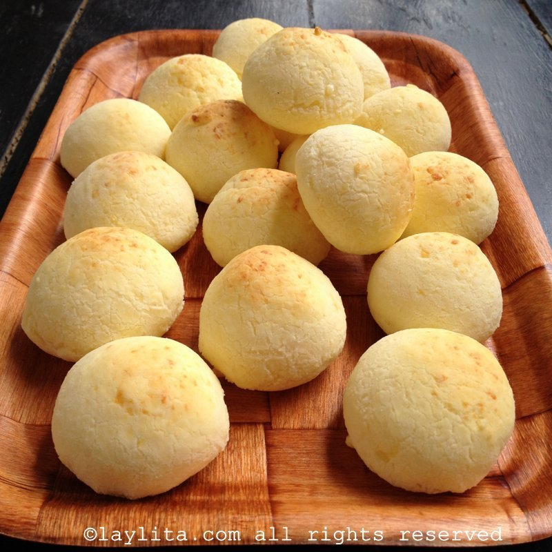 Ecuadorian pan de yuca or cheese breads