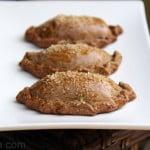 Empanadas made with gingerbread dough