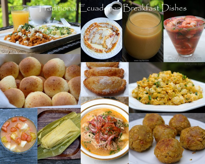 Traditional Ecuadorian Breakfast Dishes
