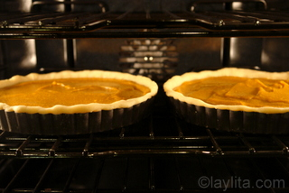 Baking time and oven temperature vary based on filling and if tart shell is pre-baked