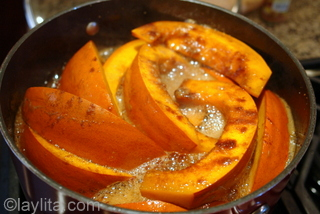 Pumpkin tart recipe preparation photos