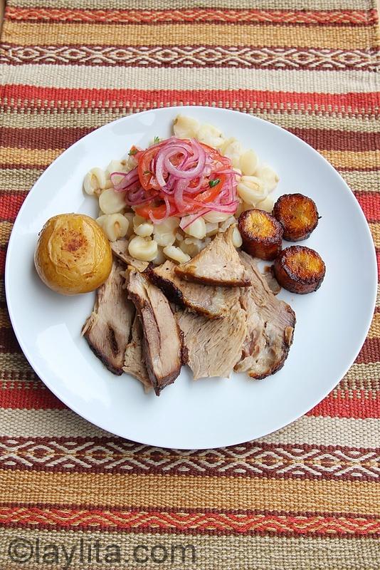 Ecuadorian Hornado de chancho recipe