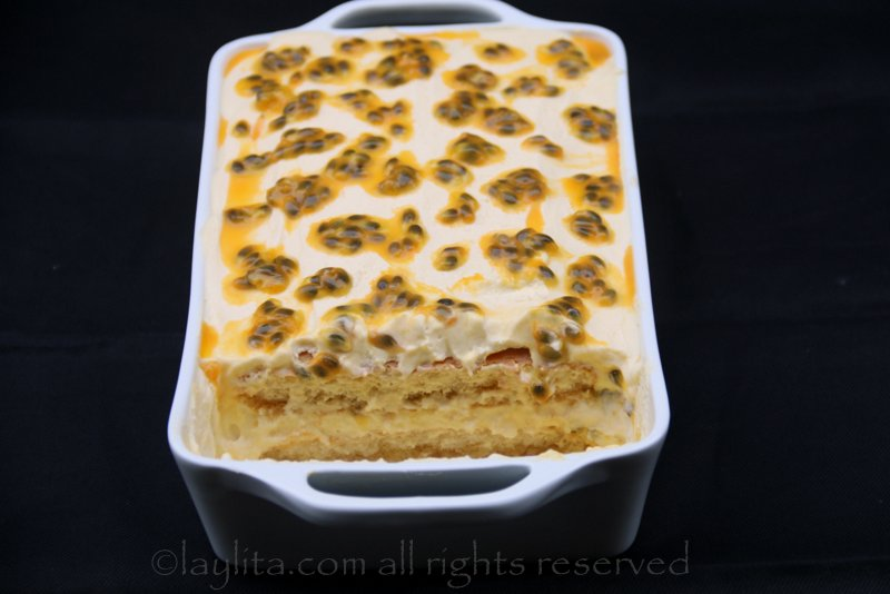 Passion fruit tiramisu