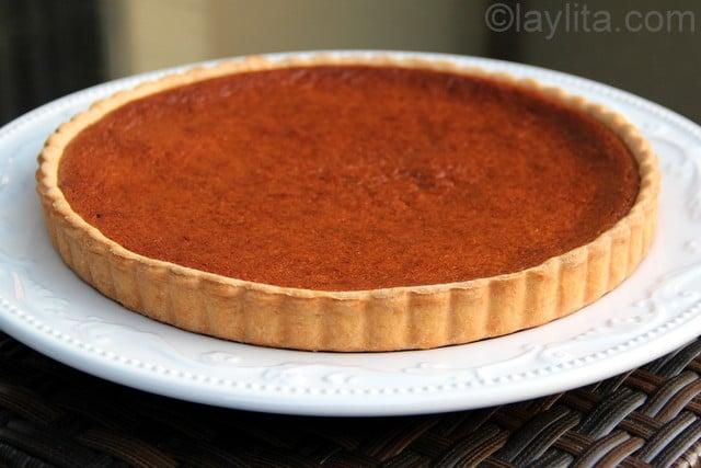 Candied pumpkin tart