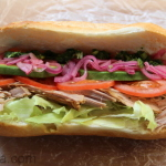 Ecuadorian roasted pork sandwich
