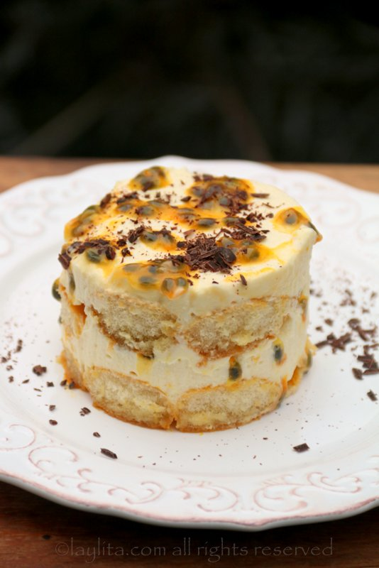 Passion fruit tiramisu recipe