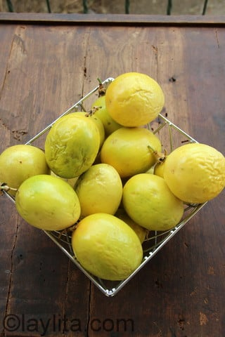 Passion fruits or maracuyas