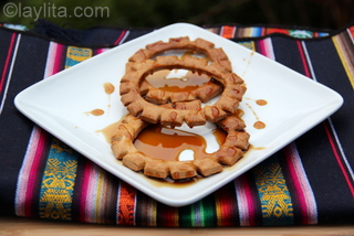 1- Baking pristinos - Baked pristinos with panela syrup