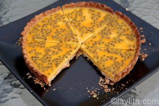 Preparação de tarte ou torta de maracujá