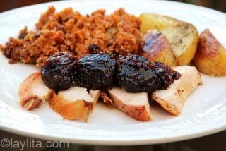 8 - Turkey with prune sauce