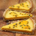 Homemade passion fruit tart