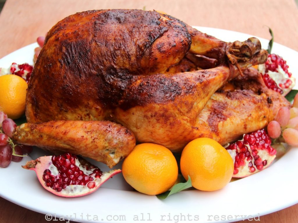 Latin style roasted turkey for Christmas or Thanskgiving