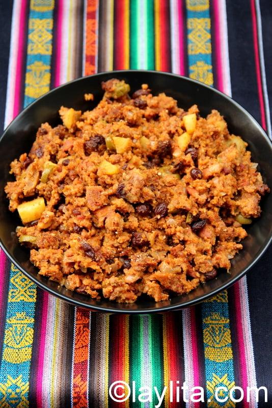 Relleno de pavo or turkey stuffing