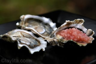 2 - Oysters with shallot vinegar sauce