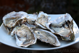 2- Shucked oysters for ceviche