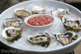 3- Oysters with mignonette sauce