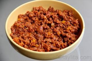 4- Chorizo filling for empanadas